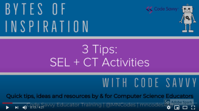 Bytes of Inspiration with Code Savvy Video Series